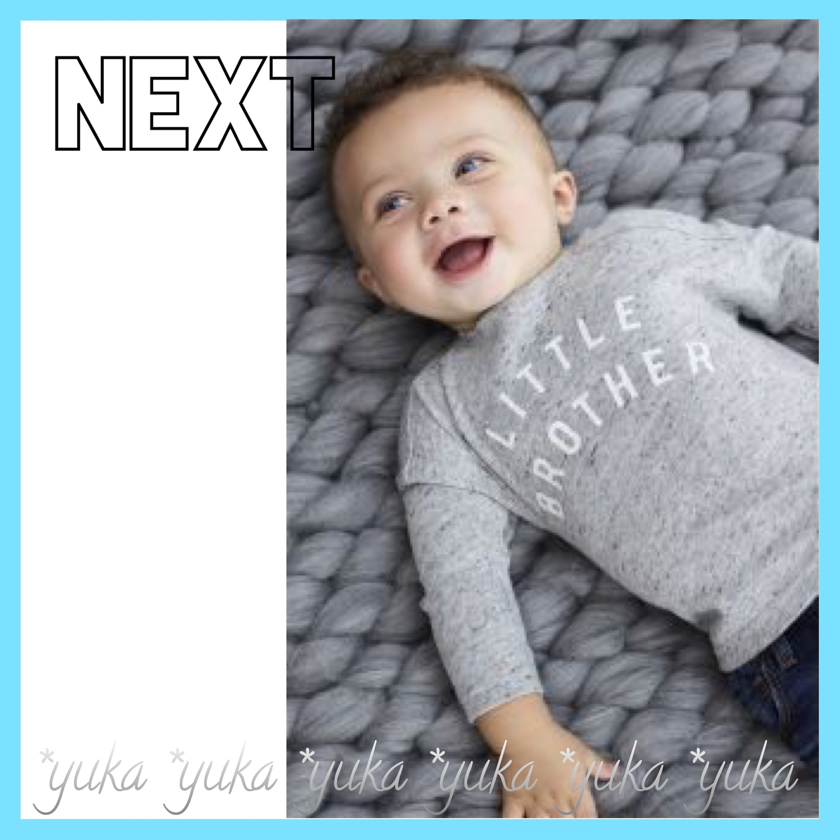 NEXT☆50-90㎝  グレー★Little Brother Tシャツ