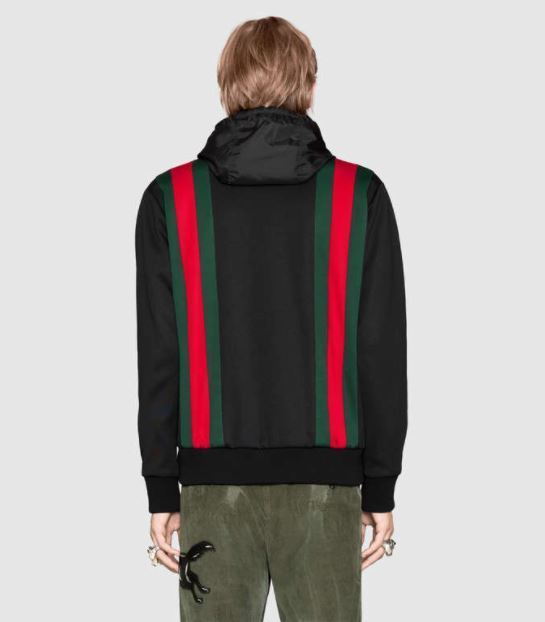 【GUCCI】Technical jersey bomber with hood