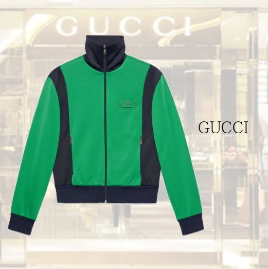 【GUCCI】Tiger patch technical jersey jacket