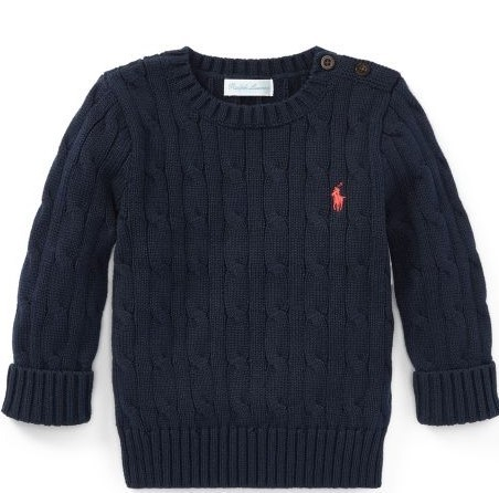 新作♪国内発送 3色Cable-Knit Cotton Sweater boys 0~24M