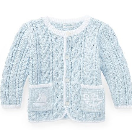 新作♪国内発送 Aran-Knit Cotton Cardigan boys 0~24M