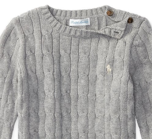 新作♪国内発送 2色Cable-Knit Cotton Sweater boys 0~24M