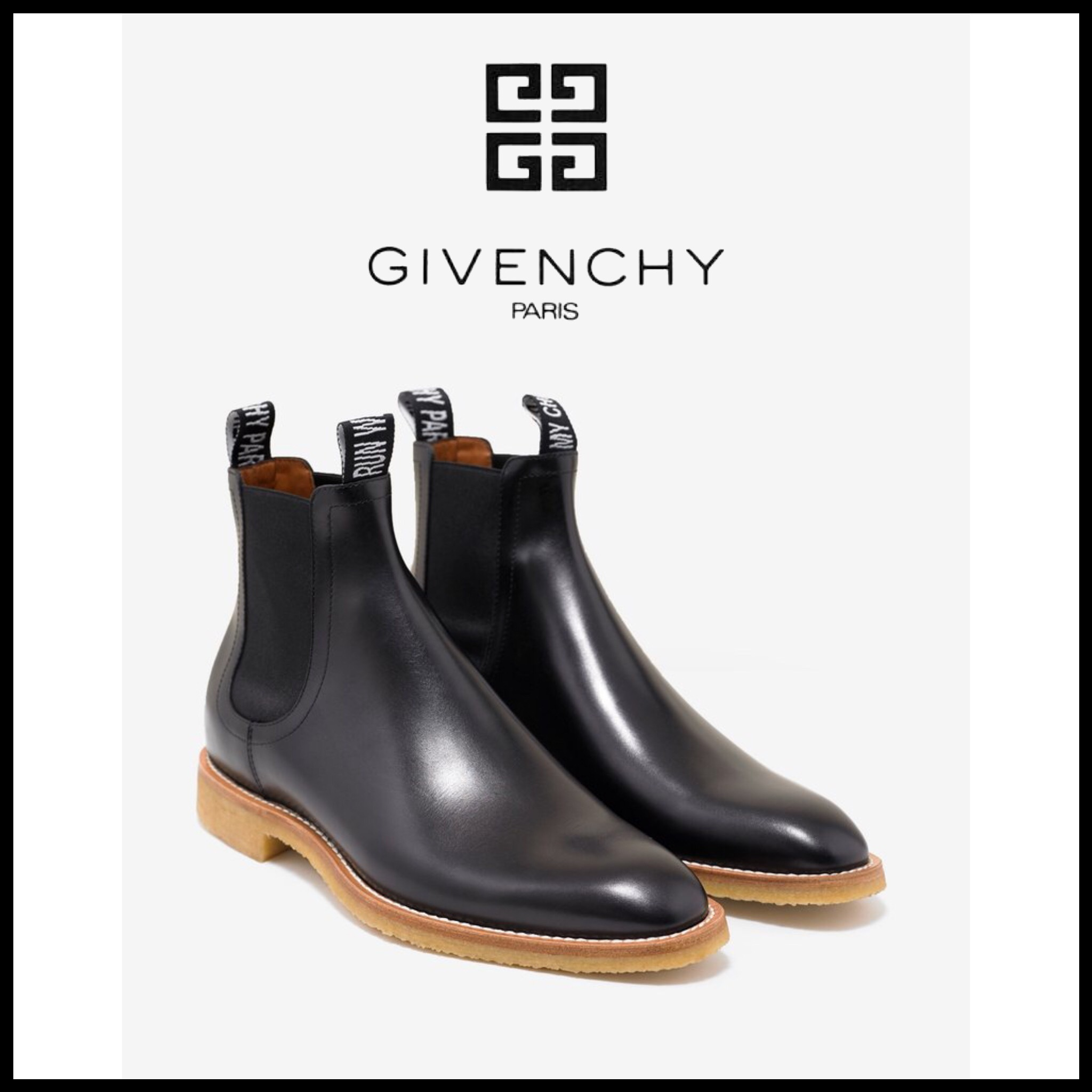 GIVENCHY☆Black Leather Chelsea Boots