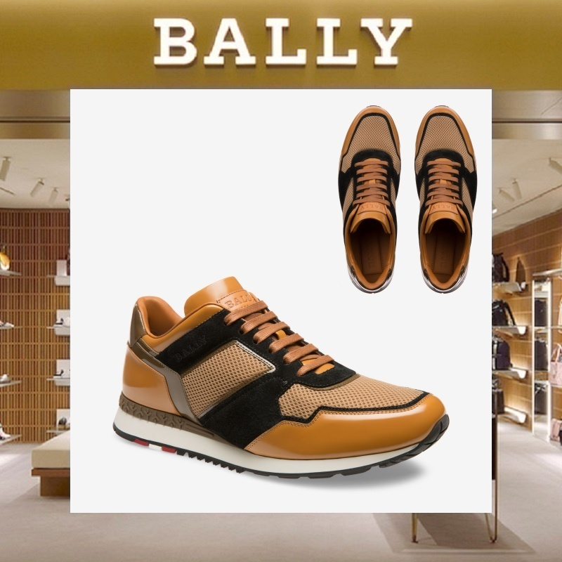 【18SS NEW】 BALLY_men / ASTREOレザースニーカーBR