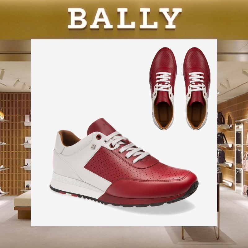 【18SS NEW】 BALLY_men / ASCOREレザートレーナーRD