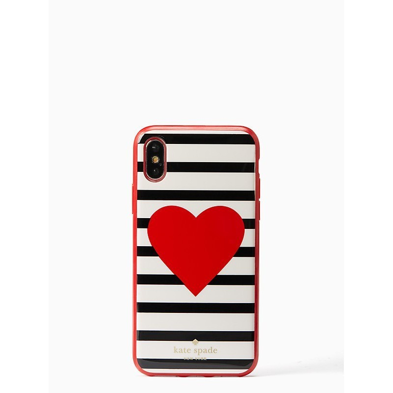 *新作 国内発送*KateSpade☆Heart×Stripe iPhone Xケース♪