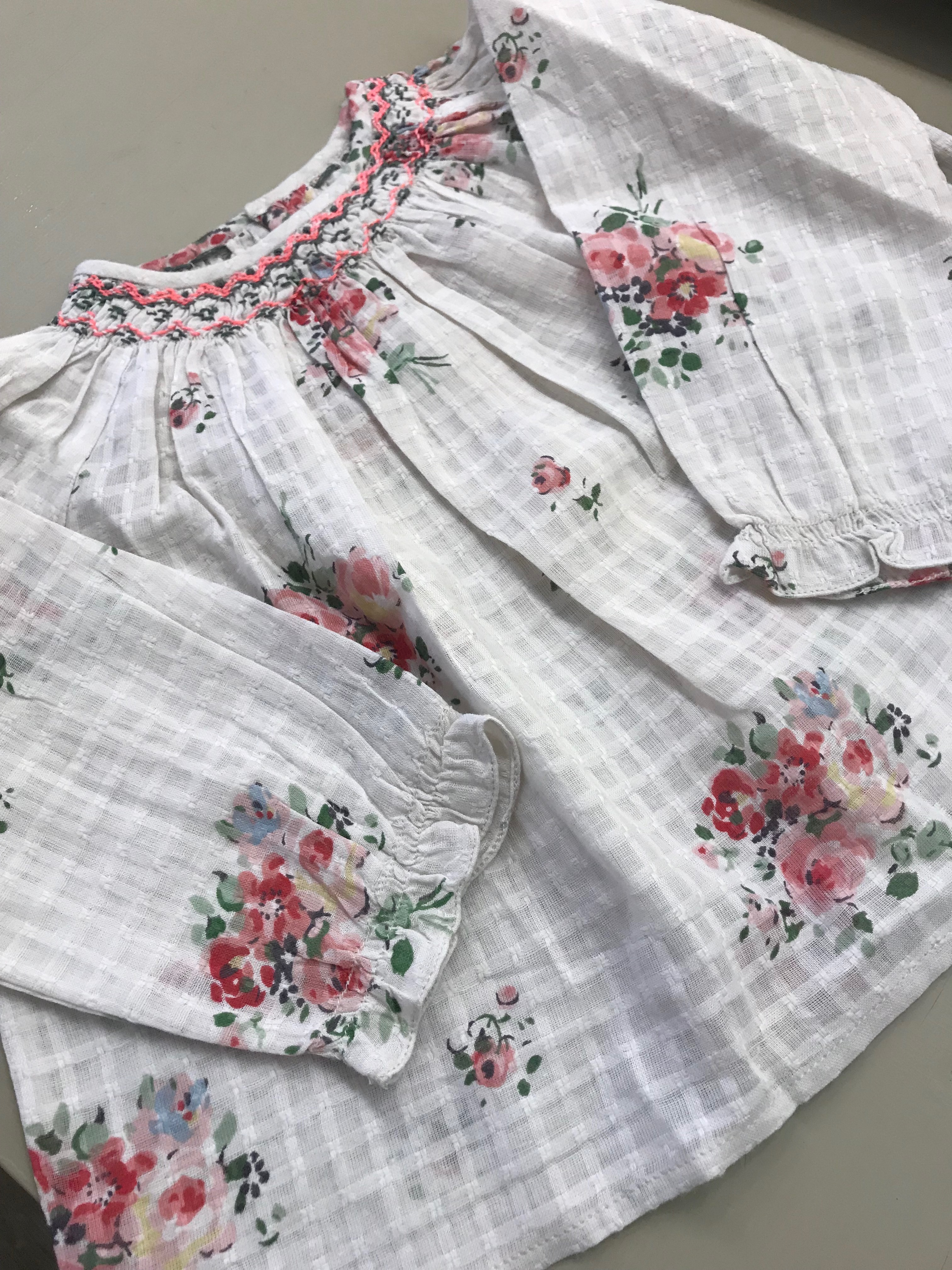 18SS【Bonpoint】Griotte ブラウス 6~12M (502A)