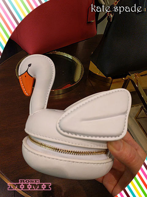 スワンコインケースKate Spade checking in 3d swan coin purse