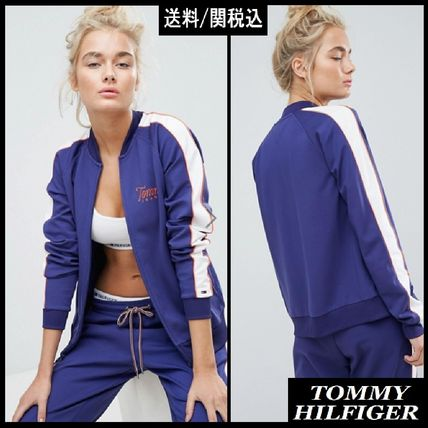 【Tommy Hilfiger】Jeans Zip Through Track Jacket with Taping
