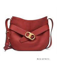 TORY BURCH GEMINI LINK SHOULDER BAG LIGHT REDWOOD