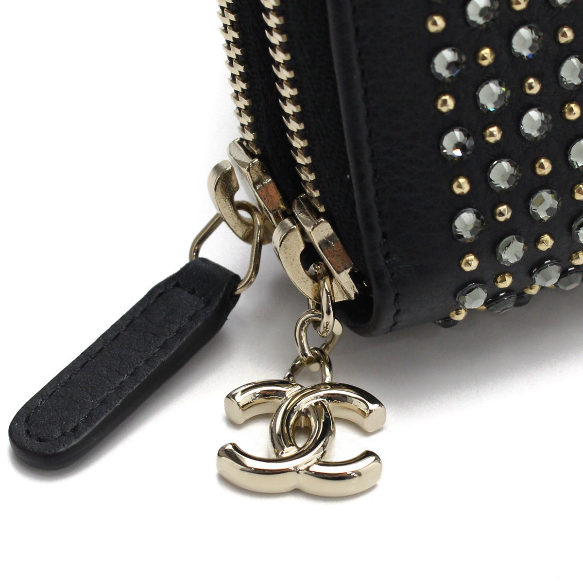 CHANEL Wファスナー コンパクトウォレット  A81006 【即発】