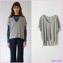 【17aw NEW】Acne_women/Kileo/VカットネックTシャツGR