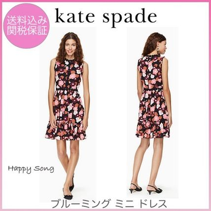 kate spade new york ワンピース kate spade◆花柄ドレス◆checking in blooming mini dress