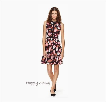 kate spade new york ワンピース kate spade◆花柄ドレス◆checking in blooming mini dress(2)