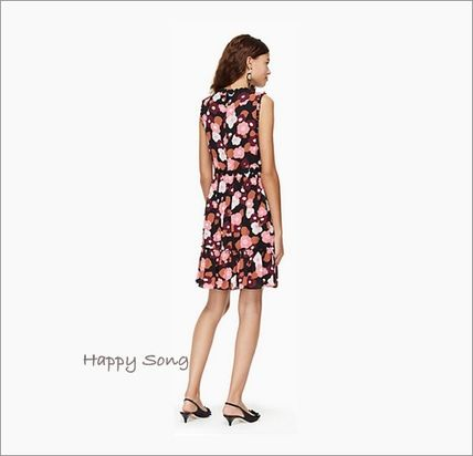 kate spade new york ワンピース kate spade◆花柄ドレス◆checking in blooming mini dress(3)