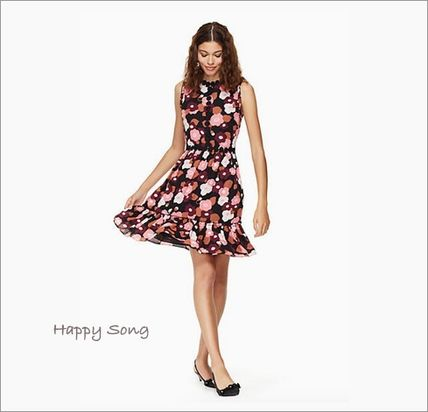 kate spade new york ワンピース kate spade◆花柄ドレス◆checking in blooming mini dress(4)