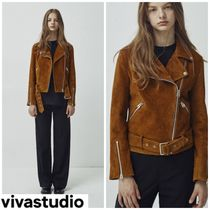 レザージャケット・コート 新作★VIVASTUDIO★WOMENS BELTED RIDERS JACKET GA [CAMEL
