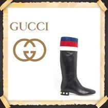 """★★GUCCI《グッチ》"""" JEM """" LEATHER BOOTS 送料込み★★"""