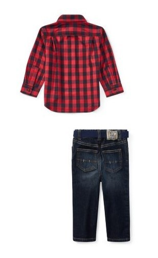新作♪国内発送 Shirt, Belt & Jean Set boys 0~24M