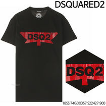D SQUARED 2★DSQ Label Logo T-Shirt 18SS 74GD0357 S22427 900