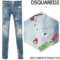 D SQUARED 2★Art painting Jeans 18SS 74LB0319 S30342 470