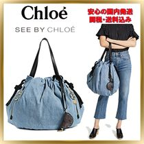 トレンド ◇See by Chloe◇ Flo Denim Shoulder 【関税送料込】