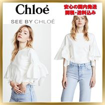 ◇See by Chloe◇ Tee with Ruffle Sleeve 【関税送料込】