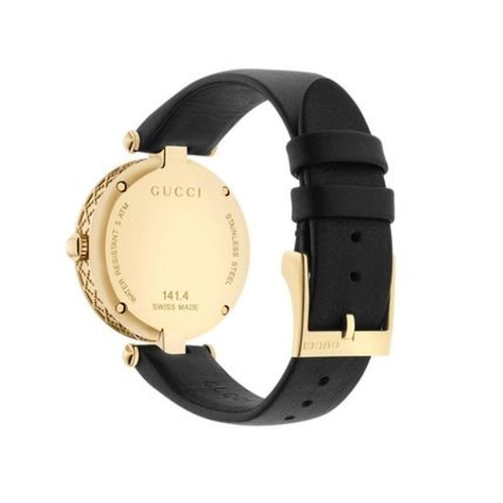 関税込み★Gucci Diamantissima Black Strap Watch YA141404