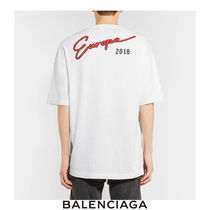 BALENCIAGA Europe Oversized Printed Cotton-Jersey T-Shirt