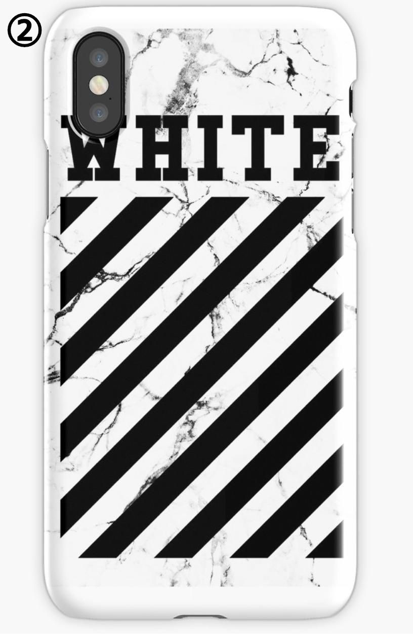★RED BUBBLE★ OFFWHITEデザイン iPhoneケース 関税・送料無料