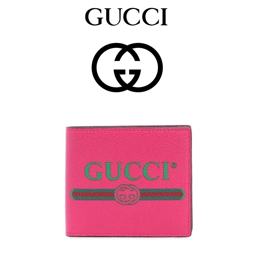 GUCCI(グッチ) GUCCI 1980'S PRINTED LEATHER WALLET
