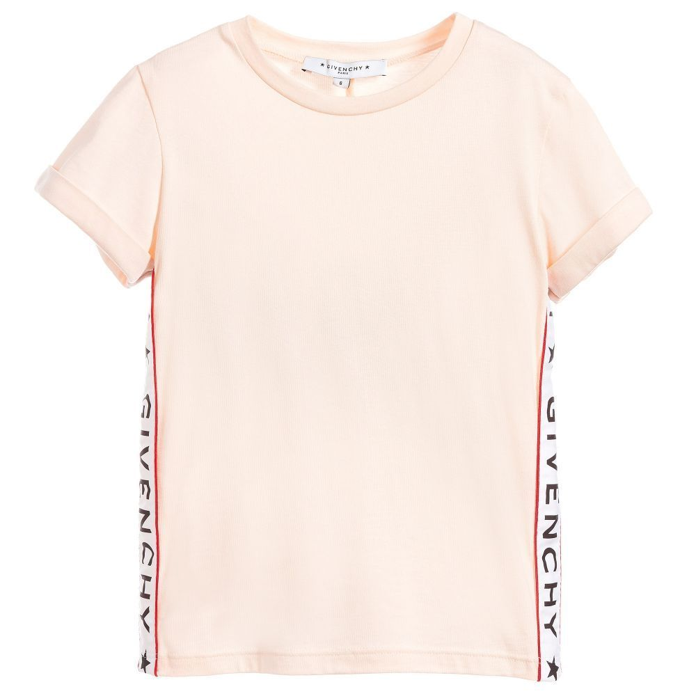 GIVENCHY★2018SS★ロゴ入半袖Tシャツ★ピンク★4Y~5Y