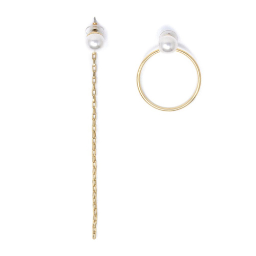 Joomi Lim☆Pearl Stud Earrings with Chain & Hoop☆ピアス