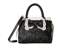 Betsey Johnson★リボンPainted Floral Satchel★2wayバッグ