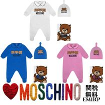 18SS☆Moschino★テディベアロンパース&ハット☆ギフトセット★