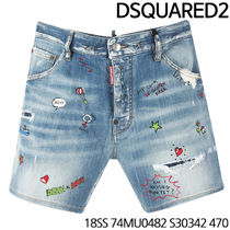 D SQUARED 2★Art Painting HalfPants 18SS 74MU0482 S30342 470