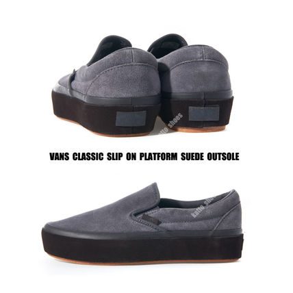 VANS★CLASSIC SLIP ON プラットフォーム★SUEDE OUTSOLE★厚底