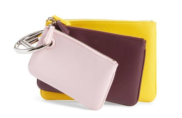 【送料込】Multicolor Triplette Set of Three Leather Pouches