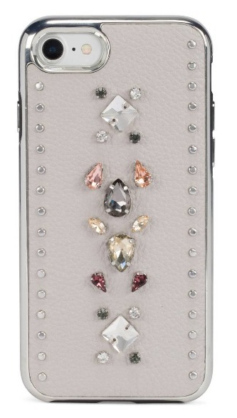 【Rebecca Minkoff 】Inlay Gem Leather iPhone 7/8 Plus Case