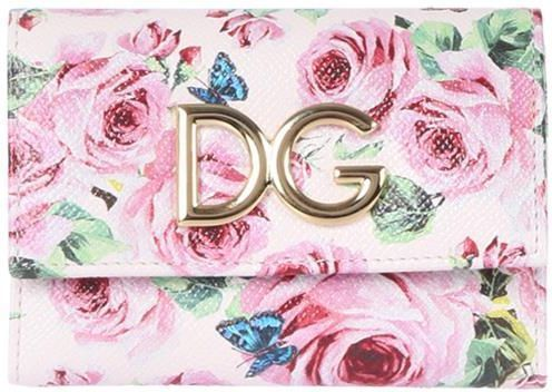 D&G♪ss18roses プリント Dauphine small continental 財布