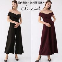 送関込☆Chicwish☆Sweet Cross Breast Off-Shoulder Jumpsuit