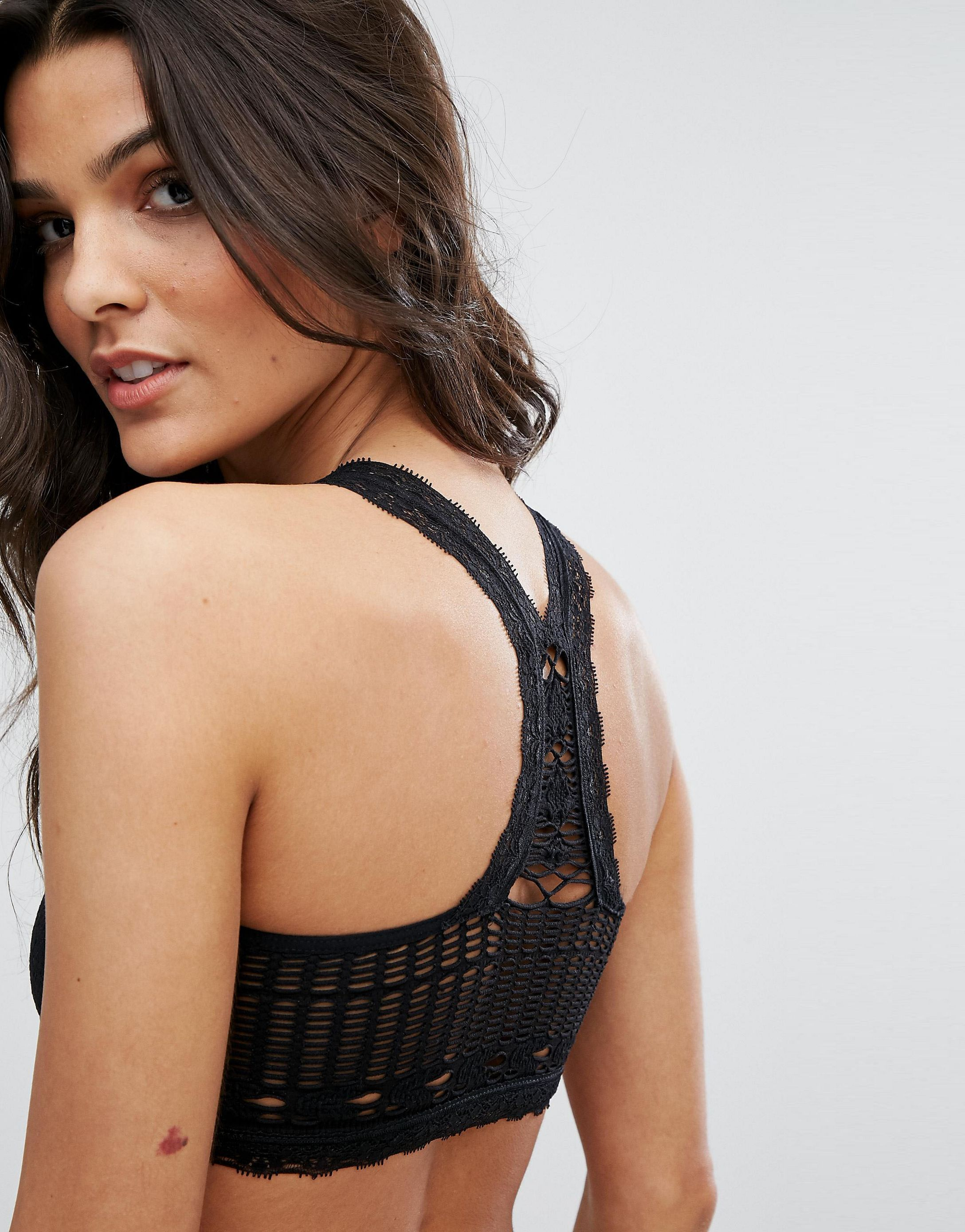 ★ASOSセレクト★Free People Seamless Crochet Racerback Bra