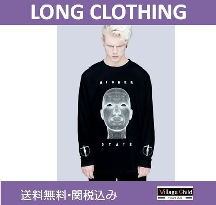 LONG CLOTHING×Pussykrew☆プリントロンT★送関込み
