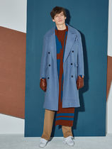AGENDER(エイジェンダー) コート 【AGENDER】OVERSIZE DOUBLE COAT BLUE