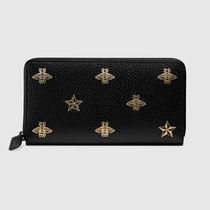 直営店購入 グッチ☆Bee Star leather zip around wallet