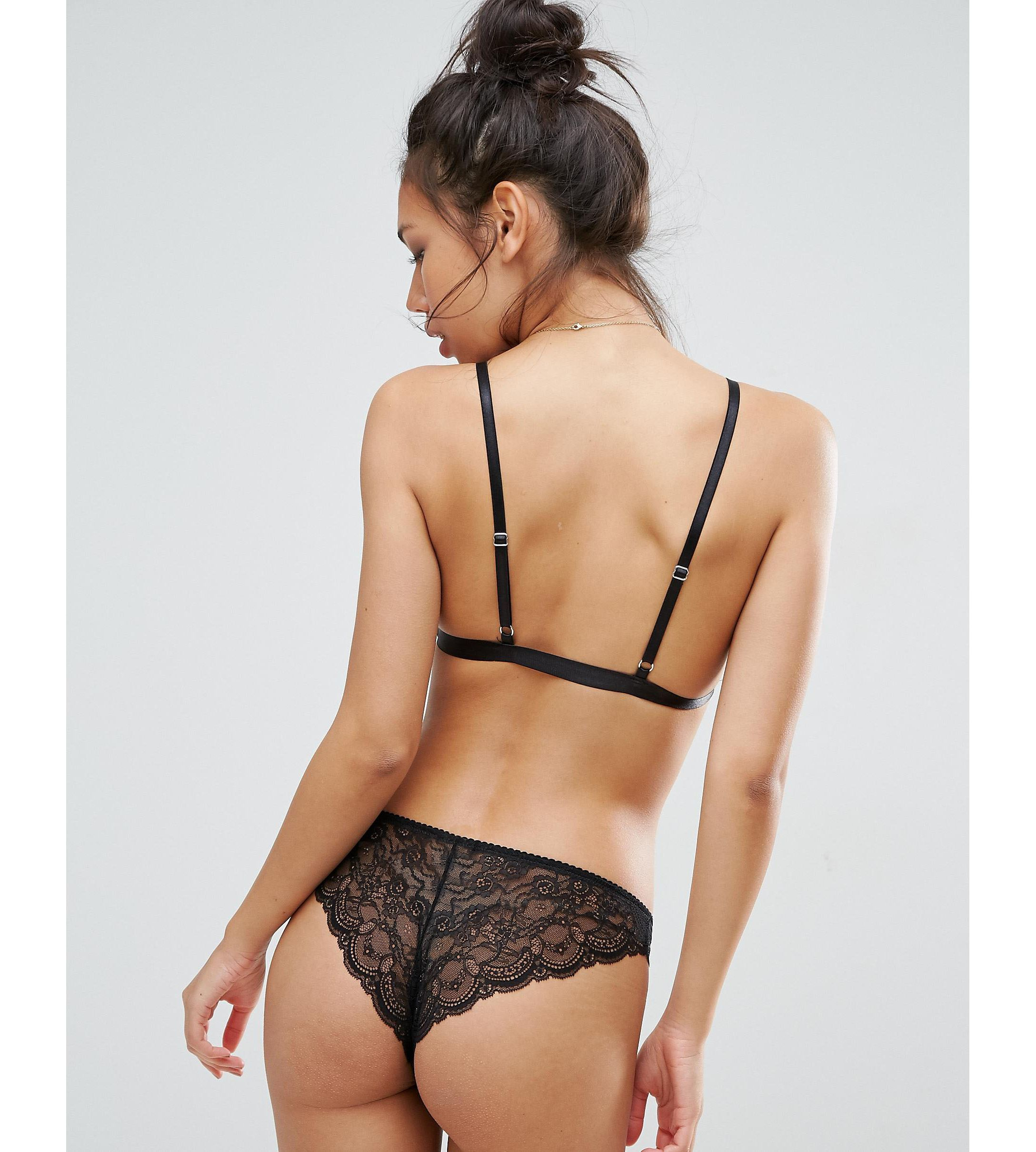 ★ASOS★ Microfibre & Pretty Lace Brazilian 3 Pack
