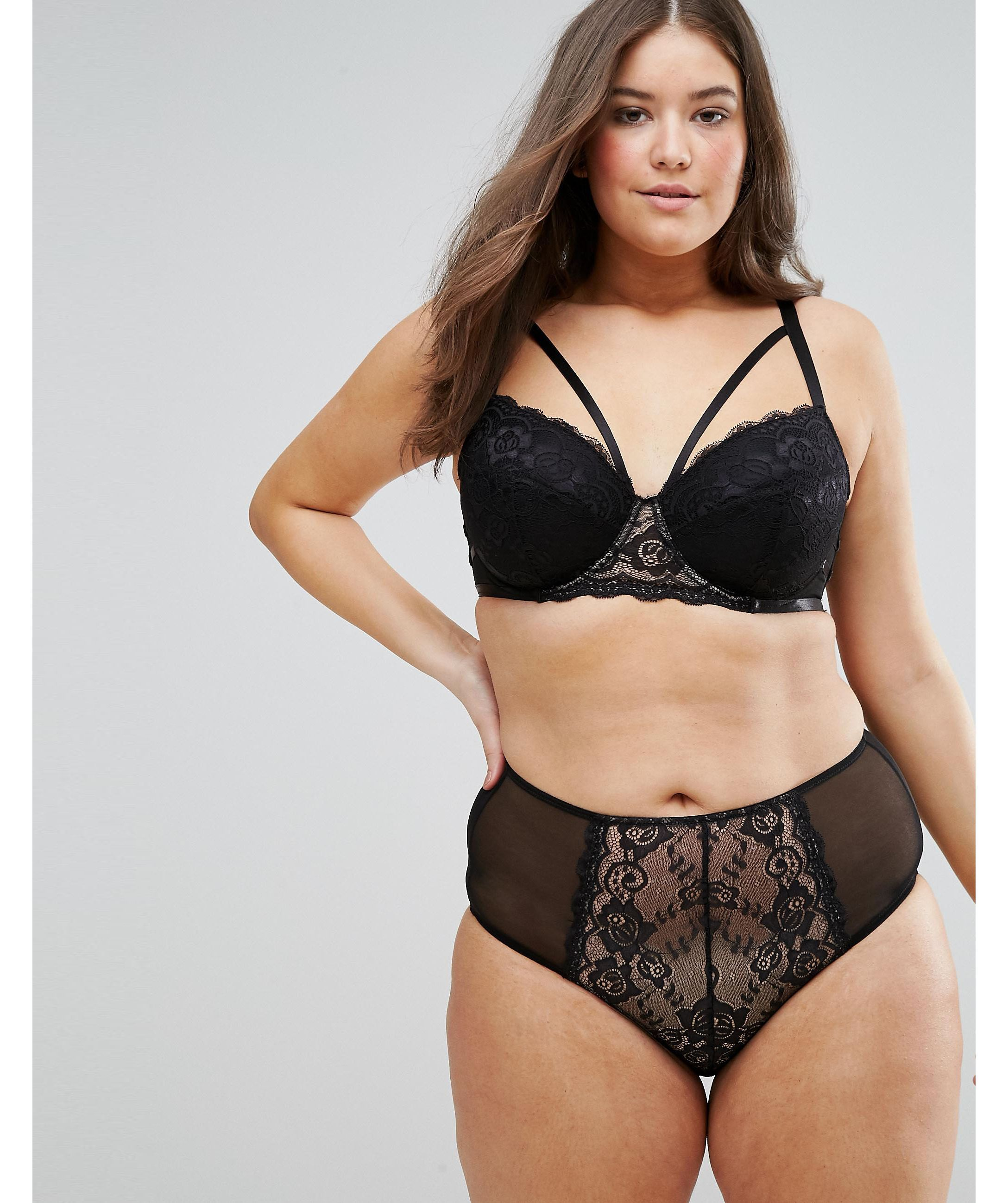 ★ASOS★ CURVE Florence ストラップpy Lace Moulded Underwire