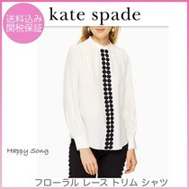 kate spade◆フローラルレース◆floral lace trim shirt