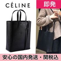 安心の関送込み【CELINE】Small Cabas Leather Tote Bag Black