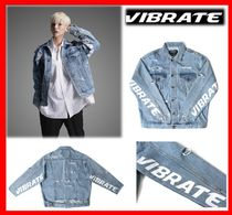 韓国の人気【VIBRATE】★ DAMAGED DENIM JACKET ★UNISEX☆